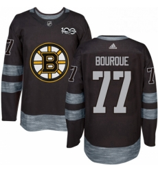 Mens Adidas Boston Bruins 77 Ray Bourque Premier Black 1917 2017 100th Anniversary NHL Jersey