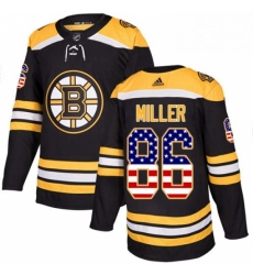 Mens Adidas Boston Bruins 86 Kevan Miller Authentic Black USA Flag Fashion NHL Jersey
