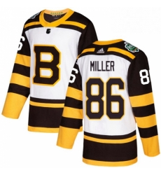 Mens Adidas Boston Bruins 86 Kevan Miller Authentic White 2019 Winter Classic NHL Jersey