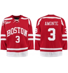 Boston University Terriers BU 3 Tony Amonte Red Stitched Hockey Jersey