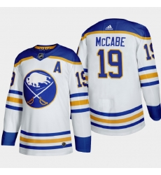Buffalo Sabres 19 Jake Mccabe Men Adidas 2020 21 Away Authentic Player Stitched NHL Jersey White