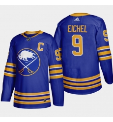 Buffalo Sabres 9 Jack Eichel Men Adidas 2020 21 Home Authentic Player Stitched NHL Jersey Royal Blue