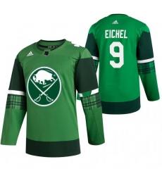 Men Buffalo Sabres 9 Jack Eichel Green 2020 Adidas Jersey