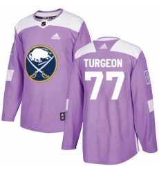 Mens Adidas Buffalo Sabres 77 Pierre Turgeon Authentic Purple Fights Cancer Practice NHL Jersey