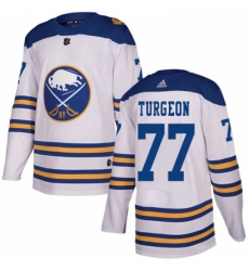 Mens Adidas Buffalo Sabres 77 Pierre Turgeon Authentic White 2018 Winter Classic NHL Jersey