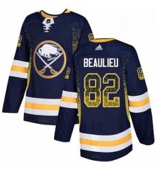 Mens Adidas Buffalo Sabres 82 Nathan Beaulieu Authentic Navy Blue Drift Fashion NHL Jersey