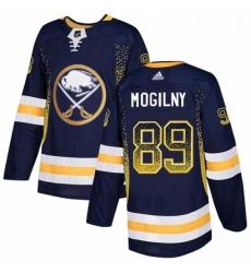 Mens Adidas Buffalo Sabres 89 Alexander Mogilny Authentic Navy Blue Drift Fashion NHL Jersey