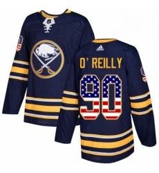 Mens Adidas Buffalo Sabres 90 Ryan OReilly Authentic Navy Blue USA Flag Fashion NHL Jersey