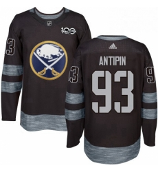 Mens Adidas Buffalo Sabres 93 Victor Antipin Authentic Black 1917 2017 100th Anniversary NHL Jersey