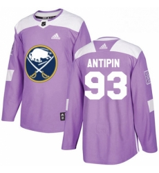 Mens Adidas Buffalo Sabres 93 Victor Antipin Authentic Purple Fights Cancer Practice NHL Jersey