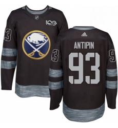 Mens Adidas Buffalo Sabres 93 Victor Antipin Premier Black 1917 2017 100th Anniversary NHL Jersey