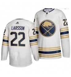 Sabres 22 Johan Larsson White 50th Anniversary Adidas Jersey