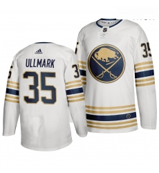 Sabres 35 Linus Ullmark White 50th Anniversary Adidas Jersey