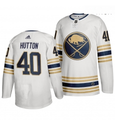 Sabres 40 Carter Hutton White 50th Anniversary Adidas Jersey