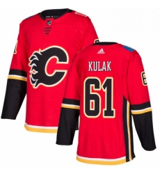 Mens Adidas Calgary Flames 61 Brett Kulak Premier Red Home NHL Jersey