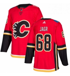 Mens Adidas Calgary Flames 68 Jaromir Jagr Premier Red Home NHL Jersey