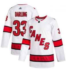 Hurricanes 33 Scott Darling White Road Authentic Stitched Hockey Jersey
