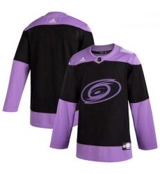 Hurricanes Blank Black Purple Hockey Fights Cancer Adidas Jersey