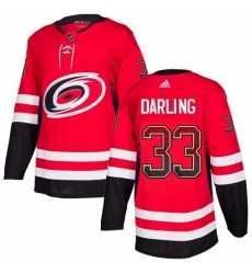 Mens Adidas Carolina Hurricanes 33 Scott Darling Authentic Red Drift Fashion NHL Jersey