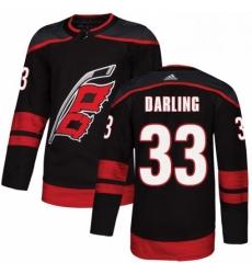 Mens Adidas Carolina Hurricanes 33 Scott Darling Premier Black Alternate NHL Jersey