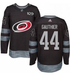 Mens Adidas Carolina Hurricanes 44 Julien Gauthier Premier Black 1917 2017 100th Anniversary NHL Jersey