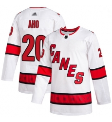 Youth Hurricanes 20 Sebastian Aho White Road Authentic Stitched Hockey Jersey