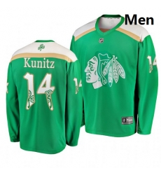 Blackhawks 14 Chris Kunitz Green 2019 St  Patrick Day Adidas Jersey