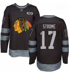 Blackhawks #17 Dylan Strome Black 1917 2017 100th Anniversary Stitched Hockey Jersey