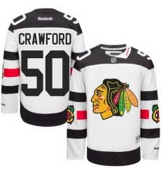 Blackhawks #50 Corey Crawford White 2016 Stadium Series Stitched NHL Jersey