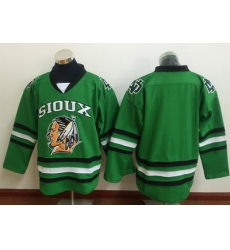 Blackhawks Blank Green Sioux Stitched NHL Jersey