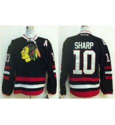 Chicago Blackhawks 10 Patrick Sharp Black 2014 Stadium Series Jerseys