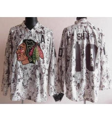 Chicago Blackhawks 10 Patrick Sharp White Camo NHL Jerseys