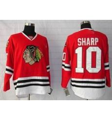 Chicago Blackhawks #10 Patrick Sharp hockey red Jersey
