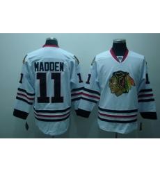 Chicago Blackhawks 11 John Madden White Jerseys