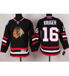 Chicago Blackhawks 16 Marcus Kruger Black 2014 Stadium Series NHL Jersey A PATCH