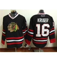 Chicago Blackhawks #16 Marcus Kruger Black Stitched NHL Jersey