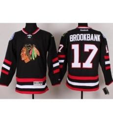 Chicago Blackhawks 17 Sheldon Brookbank Black 2014 Stadium Series NHL Jersey A PATCH