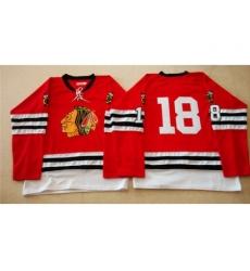 Chicago Blackhawks #18 Denis Savard Red Mitchell And Ness 1960-61 Stitched NHL Jersey