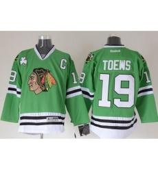 Chicago Blackhawks #19 Jonathan Toews Green Stitched NHL Jersey