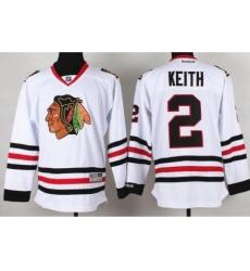 Chicago Blackhawks 2 Duncan Keith White NHL Jerseys
