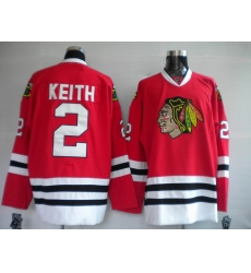 Chicago Blackhawks #2 Duncan Keith red hockey Jersey
