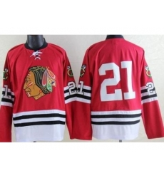 Chicago Blackhawks #21 Stan Mikita Red Mitchell And Ness 1960-61 Throwback Stitched NHL Jersey