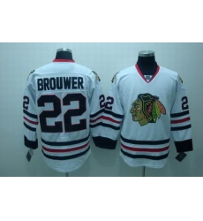 Chicago Blackhawks #22 brouwer white jerseys