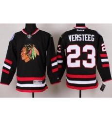 Chicago Blackhawks 23 Kris Versteeg Black 2014 Stadium Series NHL Jersey A PATCH