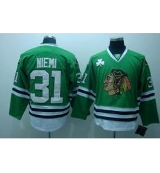 Chicago Blackhawks 31 Niemi green Ice Hockey Jerseys