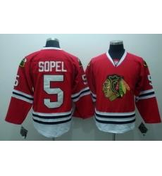 Chicago Blackhawks 5 Brent Sopel Red Jerseys