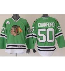 Chicago Blackhawks 50 Corey Crawford Green Stitched NHL Jersey