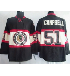 Chicago Blackhawks 51 Brian Campbell Black  Jersey New Third
