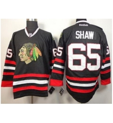 Chicago Blackhawks 65 Andrew Shaw Black NHL Jerseys