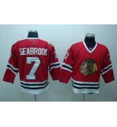 Chicago Blackhawks #7 Brent Seabrook red Jerseys